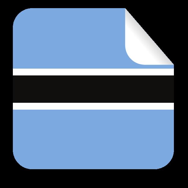 Botswana flag square-shaped sticker