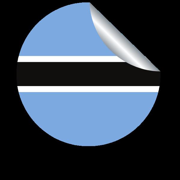 Botswana flag sticker clip art