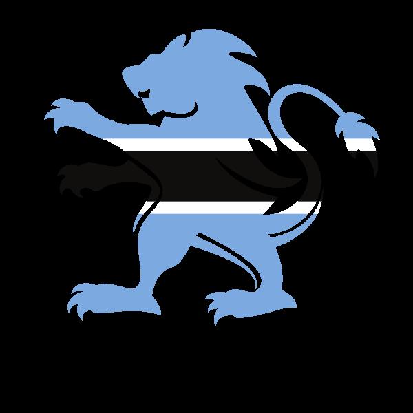 Botswana lion flag emblem