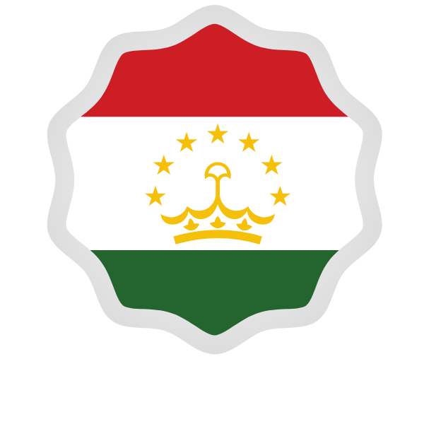 Tajikistan flag symbol sticker