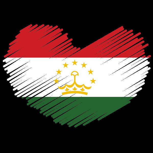Tajikistan patriotic symbol with flag