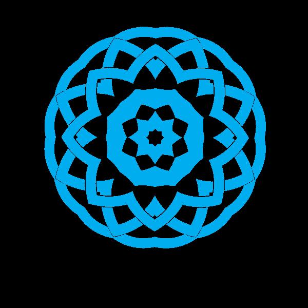 Tribal decorative shape blue color