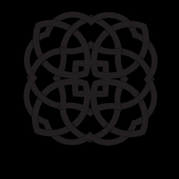 Tribal knot black color