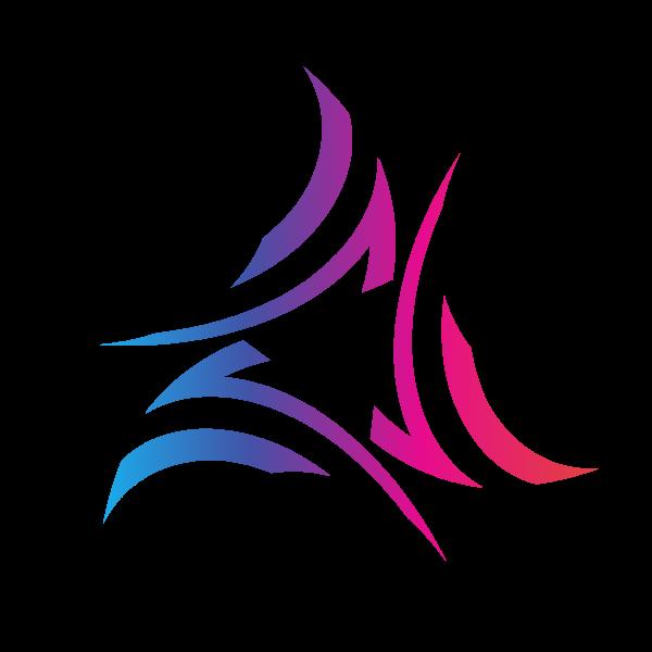 Tribal triangular logo