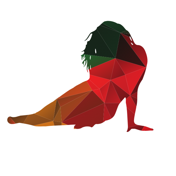 Woman posing color silhouette