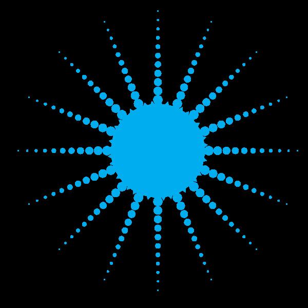 Blue dotted shape symbol clip art