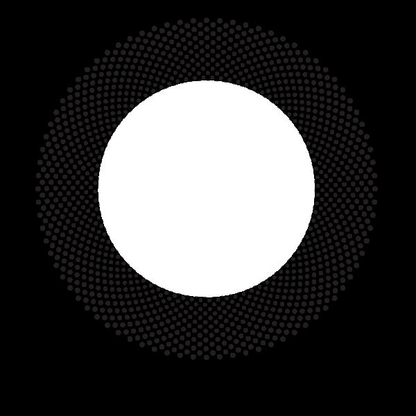 Circular halftone shape dots