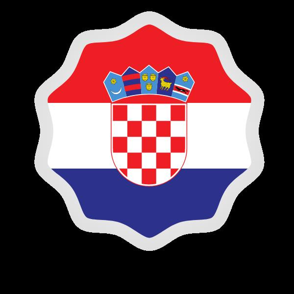 Croatian flag label