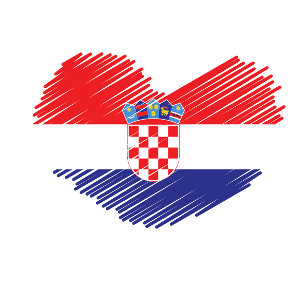 Croatia flag patriotic symbol