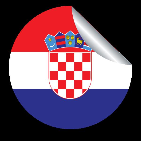 Croatian flag peeling sticker