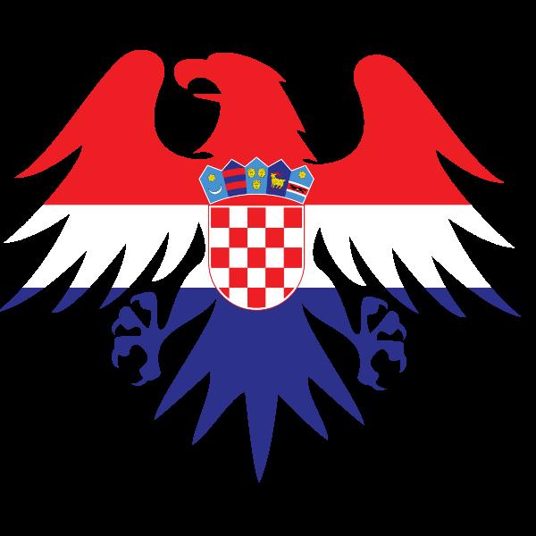 Croatian flag heraldic eagle