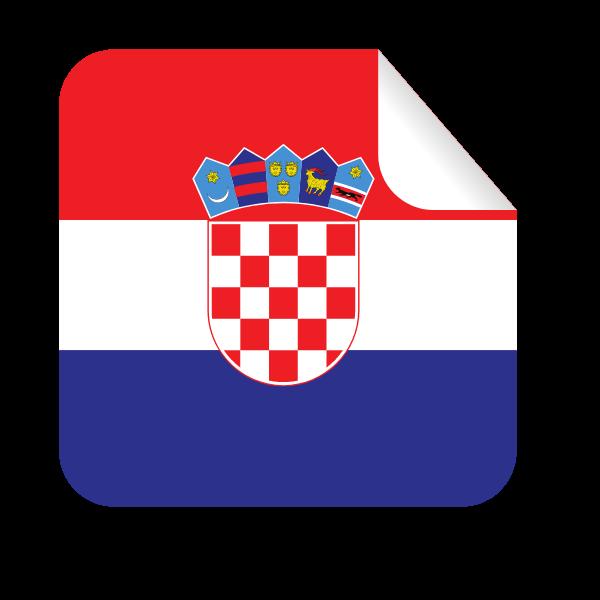 Croatian flag square-shaped sticker