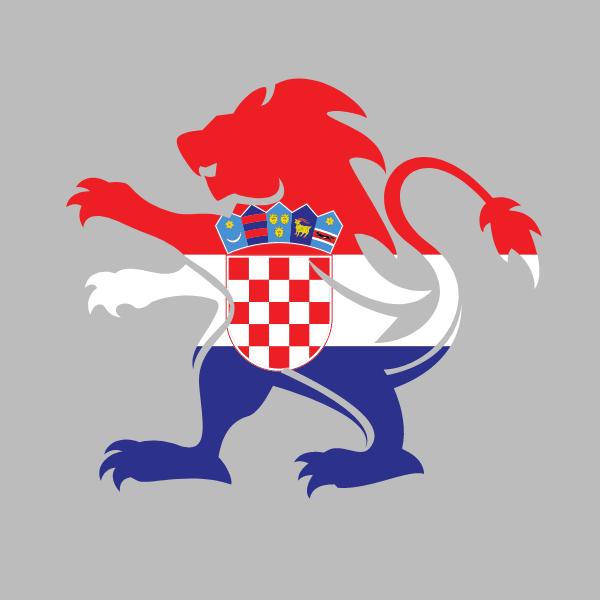 Croatian heraldic lion flag
