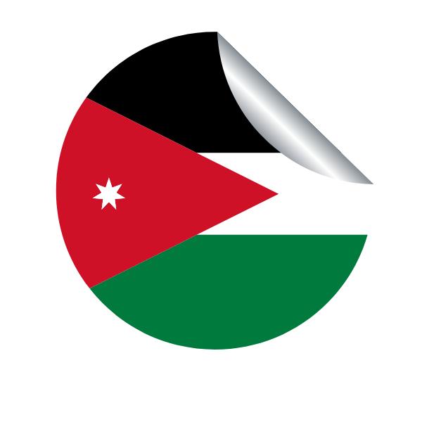 Jordan flag peeling sticker