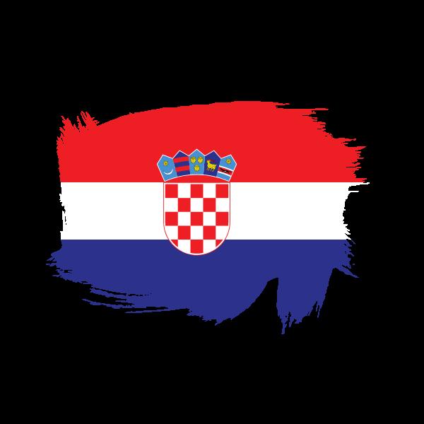 Painted flag of Croatia