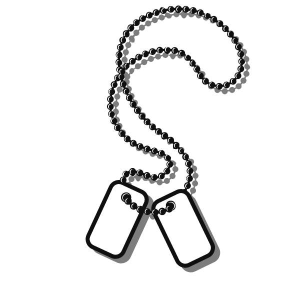 Soldier dog tag clip art