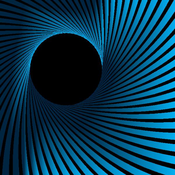 Sunburst whirl blue color