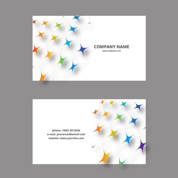 Business card design star shapes