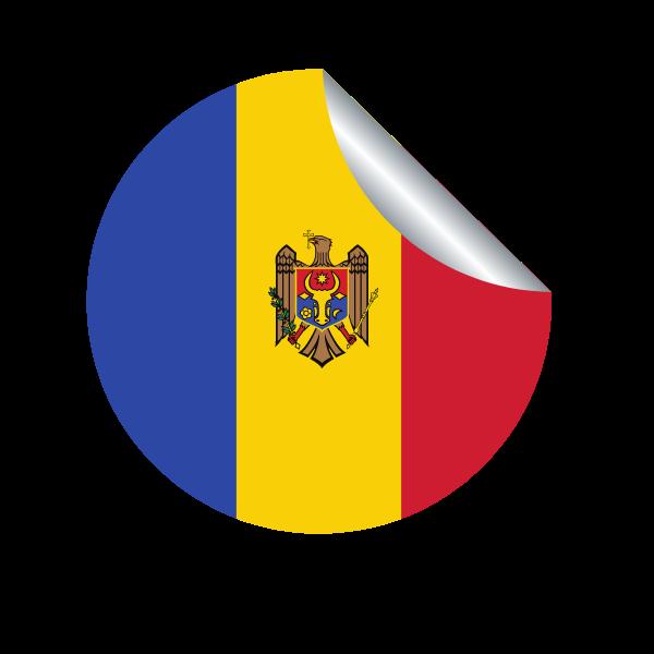 Moldova flag peeling sticker