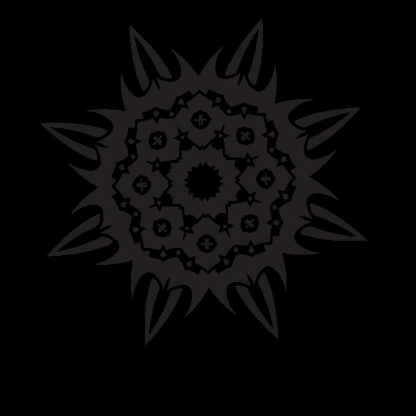 Monochrome tribal decal