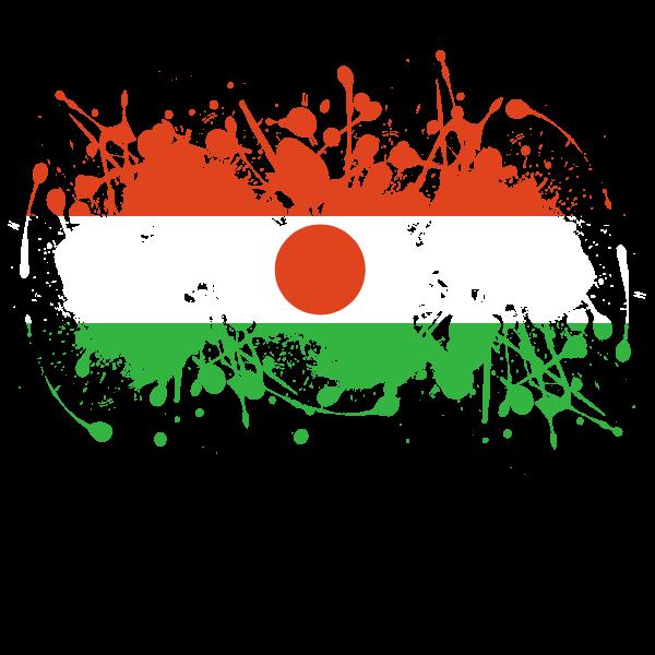 Niger flag ink splash