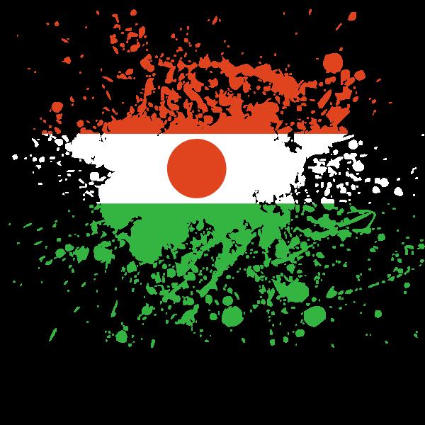 Niger flag ink splatter
