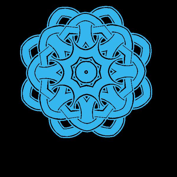 Knot design blue color
