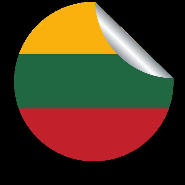 Lithuanian flag peeling sticker