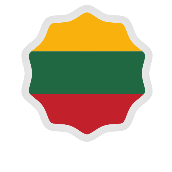 Lithuanian flag symbol sticker