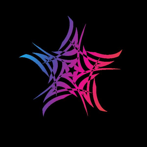 Star shaped graphic art