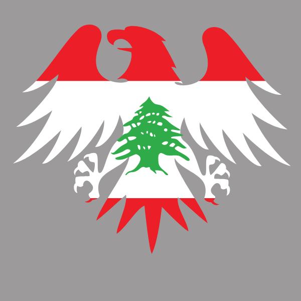 Lebanon flag heraldic eagle