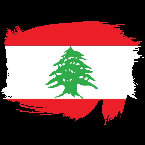 Painted flag of Lebanon