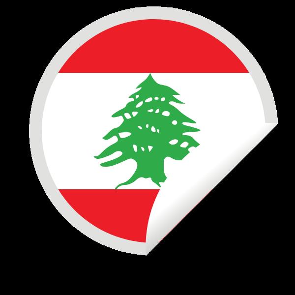 Lebanon flag peeling sticker