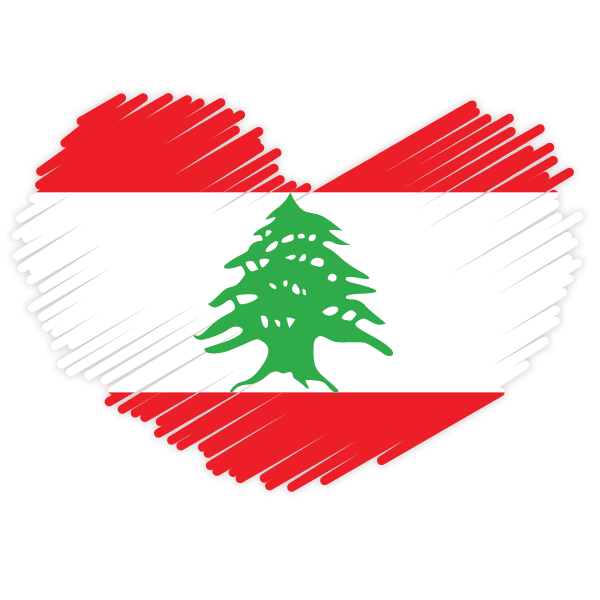 Lebanese flag patriotic symbol