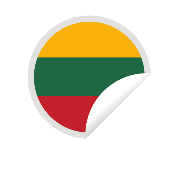 Lithuanian flag peeling sticker-1635174643