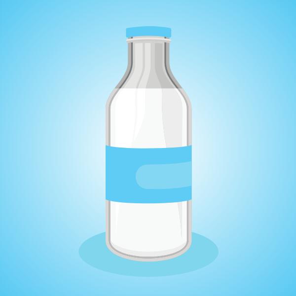 Milk bottle clip art