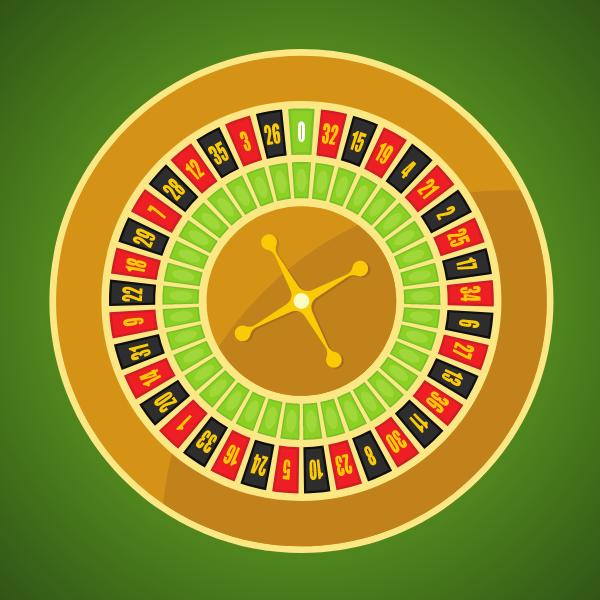 Roulette vector clip art
