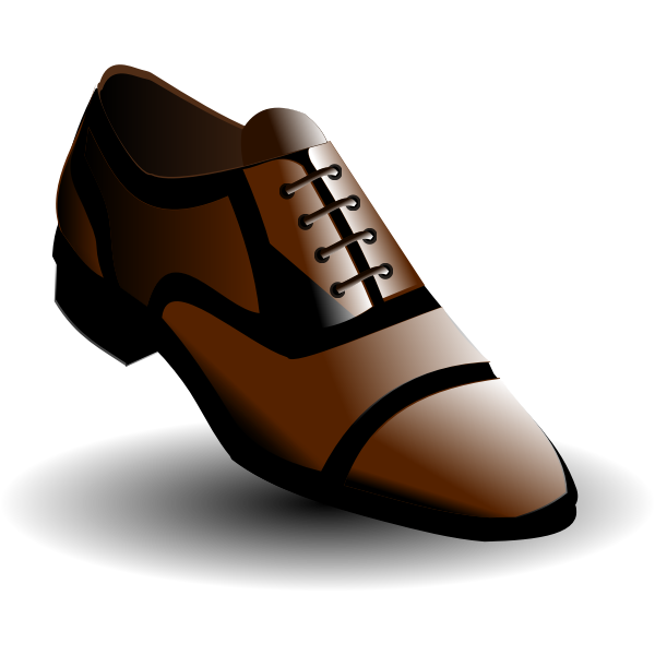 Vector image of black and brown male shoes