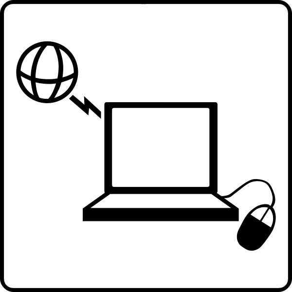 Vector icon for hotel with internet in rooms