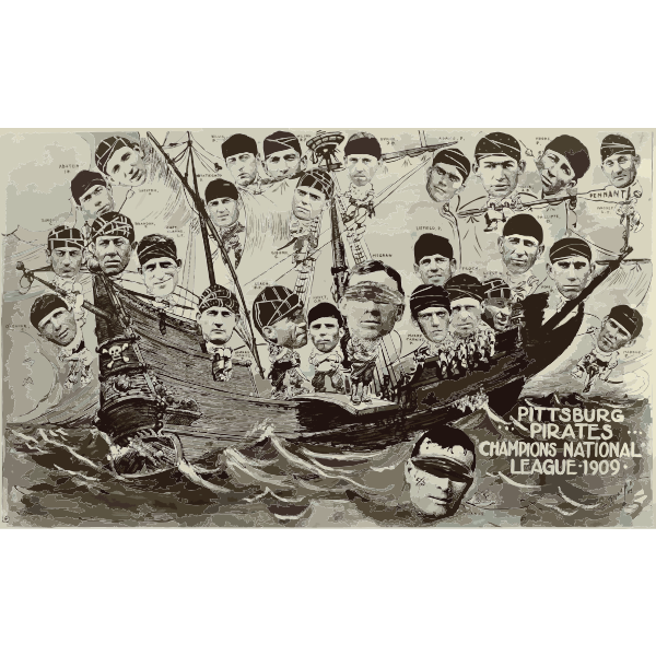 1909 Pittsburgh Pirates on a boat