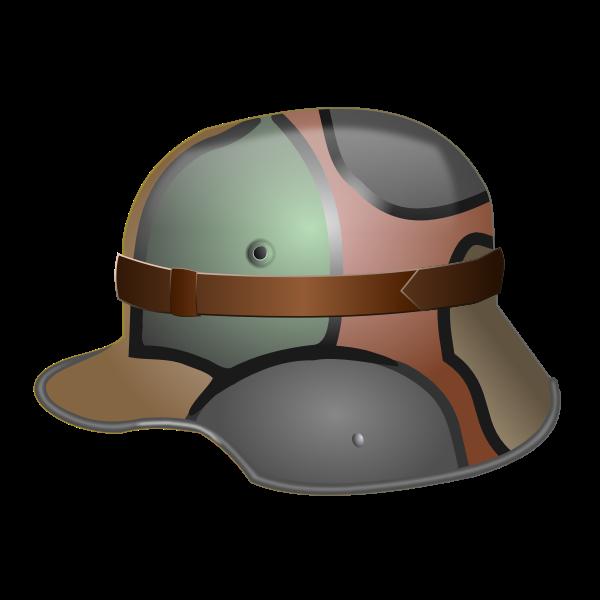 M1916 German helmet vector image