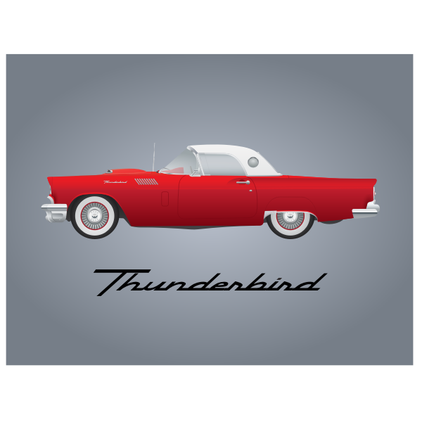 Thunderbird car model 1957 - Free SVG