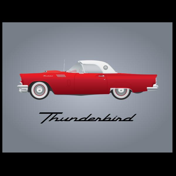 Thunderbird car model 1957