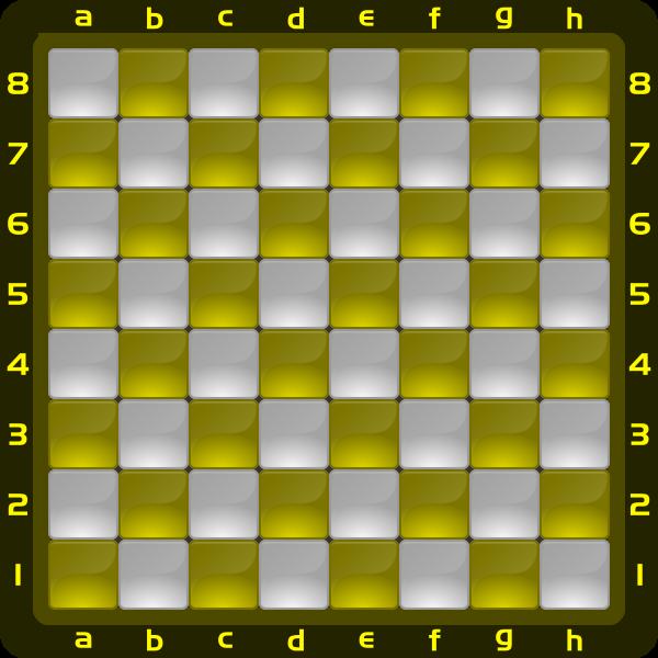 1 Chessboard Color Amarillo Clipart by DG RA
