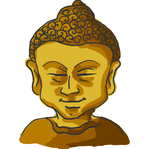 Drawing of Golden Buddha's head