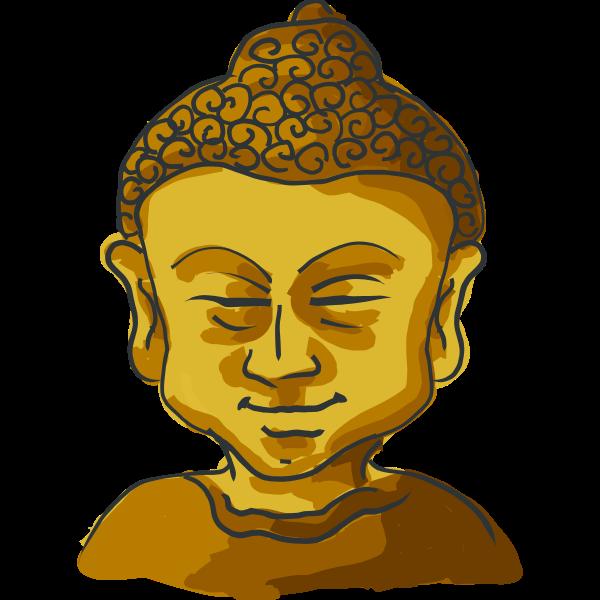 Drawing of Golden Buddha's head