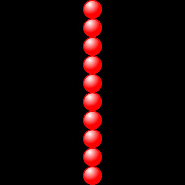 1x10 red balls