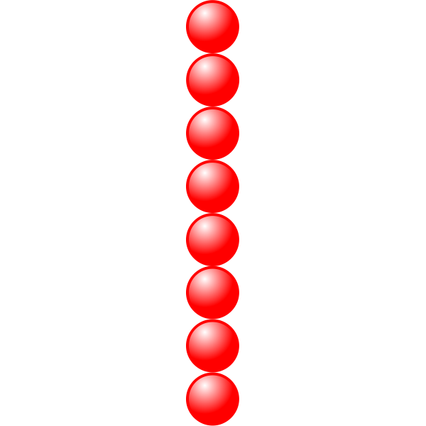 1x8 red balls