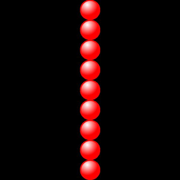 1x9 red balls