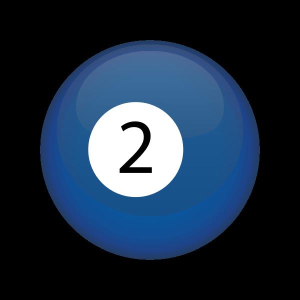 Blue snooker ball